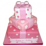 pink 18th birthday cakes