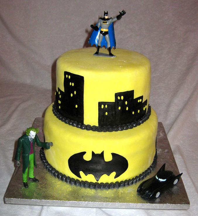 Batman Birthday Cupcakes