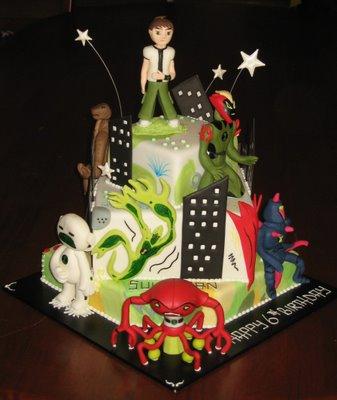 Ben 10 Birthday Cupcakes