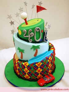 Golf Themed Birthday Cupcakes
