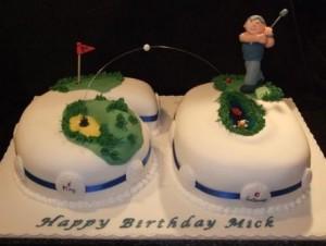 Golf Themed Birthday CupcakesB