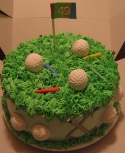 Golf Themed Birthday CupcakesC