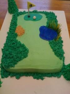 Golf Themed Birthday CupcakesD