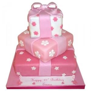18th Birthday Pink Three Tier Cake