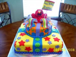 1st birthday Elmo Cake and Smash Cake