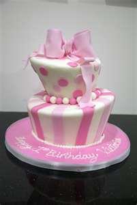 21st Birthday Pink Topsy Cake