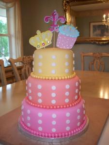 3 Tier Fondant Birthday Cake