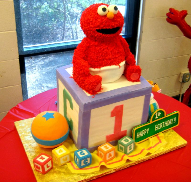 Terrific 3D Baby Elmo Birthday Cakebest Birthday Cakesbest Birthday Cakes Funny Birthday Cards Online Necthendildamsfinfo