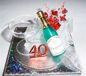 40th Birthday Cake Designs