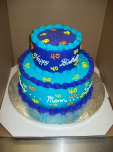 40th Birthday Cake Pictures Photo Gallery