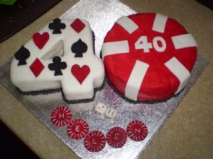40th birthday cake photo