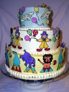 Amazing Circus Birthday Cake