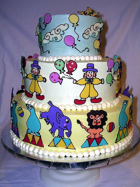Super Amazing Circus Birthday Cakebest Birthday Cakesbest Birthday Cakes Personalised Birthday Cards Veneteletsinfo