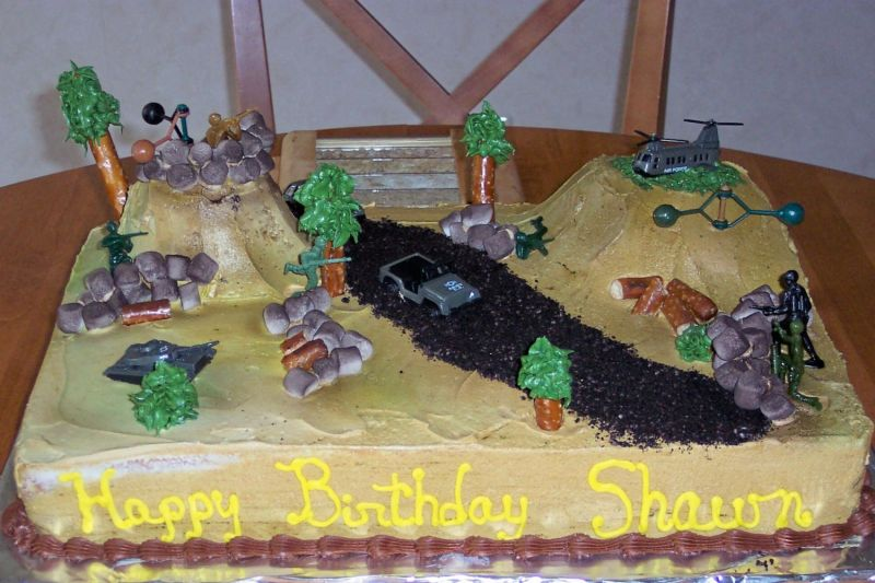 army fort birthday cake decorating best birthday cakes