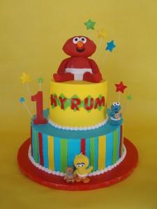 Baby Elmo 1st Birthday Cake