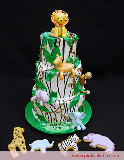 Baby Gone Wild Baby Shower Jungle Cake