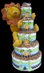 Baby Jungle King Baby Shower Diaper Cake