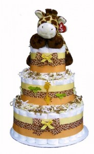 Baby Shower Jungle Safari Diaper Cake