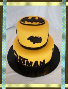 Batman Fondant Birthday Cake