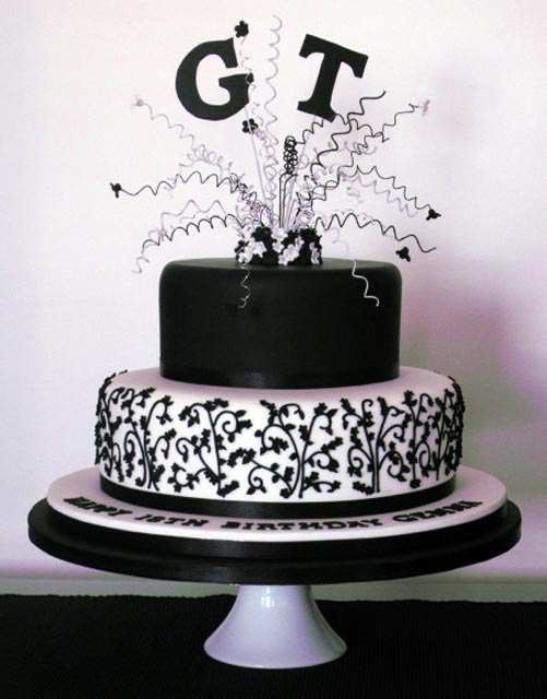 Birthday Cake Pictures Black And White : zebra cake pink black and white cake 18th birthday cake ...