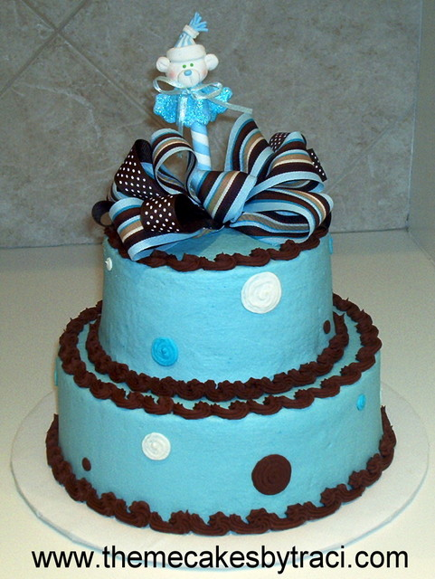 Blue and Chocolate Brown Birthday Cakes | Best Birthday Cakes