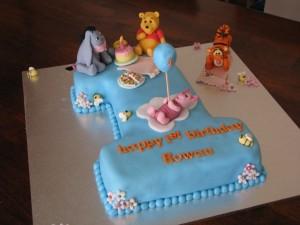 Boy's First Birthday Cake