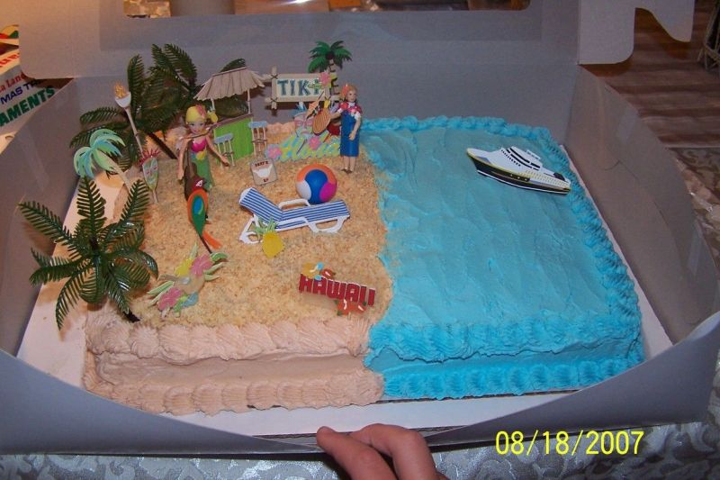 Cake Designs With Hawaiian Themes For Kids