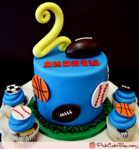 Cake Toppers Football Cupcake