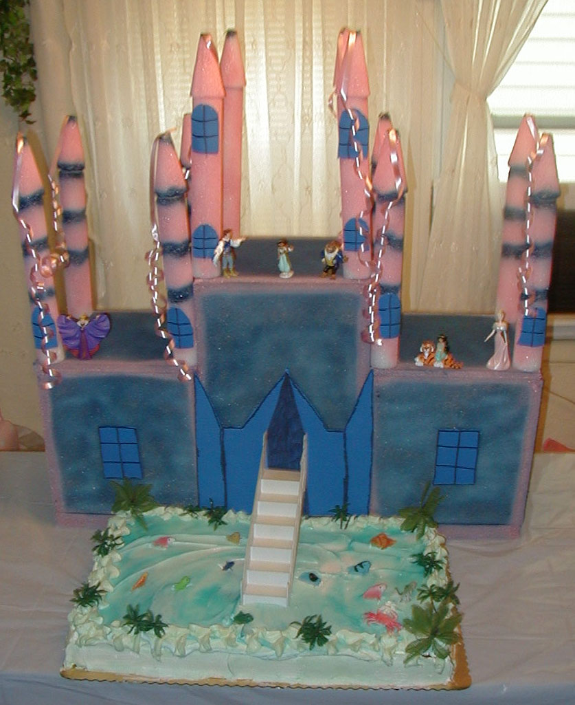 Castle Shaped Wedding Cakes