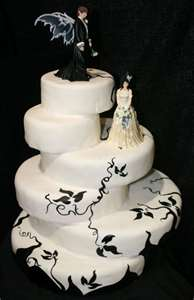 Cheap Halloween Wedding Cakes