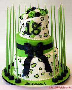Cheetah Print 18th Debut Birthday Cake