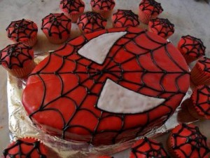 Cupcake Ideas for a Spiderman Party