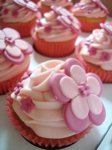 Cute Pink Cupcake Birthday