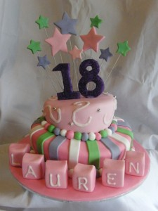 Decorations for an 18th Birthday Cakes