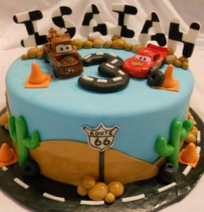 Disney Cars 2 Fondant Cakes