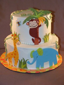 Edible Baby Shower Jungle Cakes