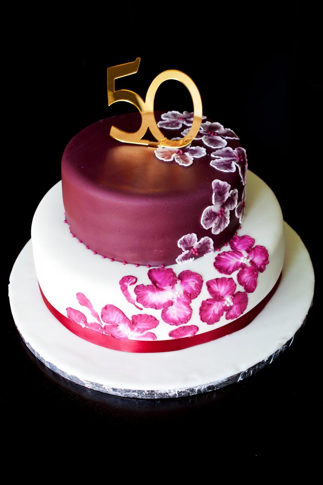 50th Birthday Cake Ideas » Elegant 50th Birthday Cake Ideas