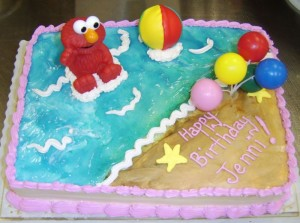 Elmo Beach Birthday Cakes