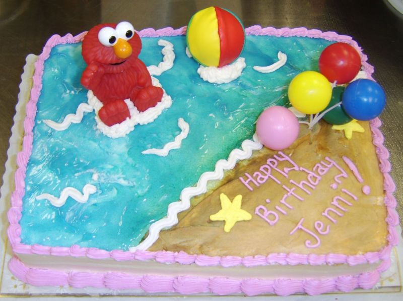 Elmo Beach Birthday Cakes