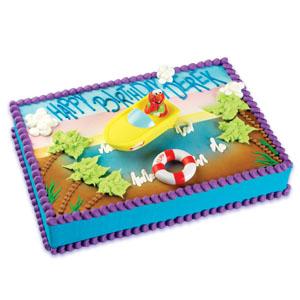 Elmo Boating Cake Decoration