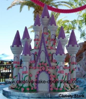 Fairy Tale Wedding Castle Cake