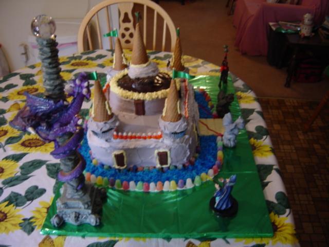 Fantasy theme birthday cakes