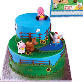 Farm Animals Themed Cake Toppers