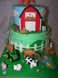 Farm Theme Birthday Cake Ideas