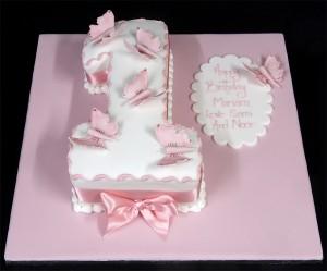 Birthday Cakes  Girls on First Birthday Cake For A Girl 300x249 Girls First Birthday Cakes