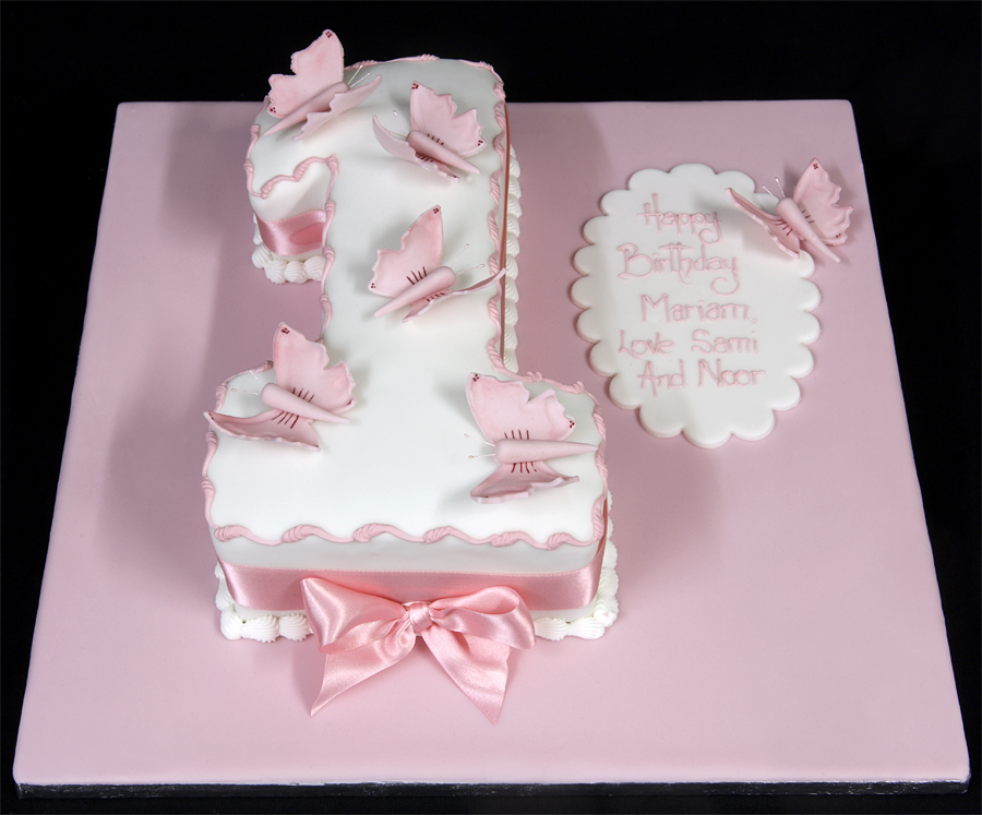 1st birthday cake for girls