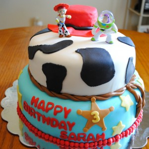 Fondant Toy Story Birthday Cake