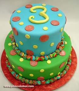 Fondant birthday cake pictures