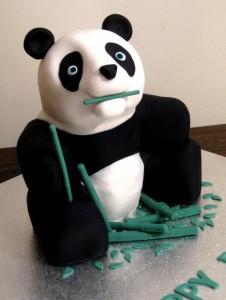 Fondant panda bear