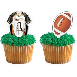 Football Birthday Cupcakes